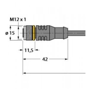 RKC4T-2/TXL – Przewód elementu wykonawczego/- Czujnika, przewód podłączeniowy – 6625500
