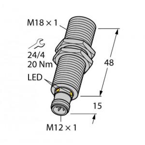 RU100U-M18M-UP8X2-H1151 – Czujnik ultradźwiękowy, czujnik odbiciowy – 1610010