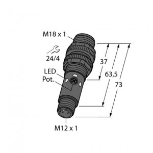 S18-2VPDL-Q8 – Czujnik fotoelektryczny, czujnik odbiciowy – 42167