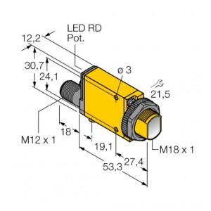 SM312CVQD – Czujnik fotoelektryczny, czujnik zbieżny – 26832