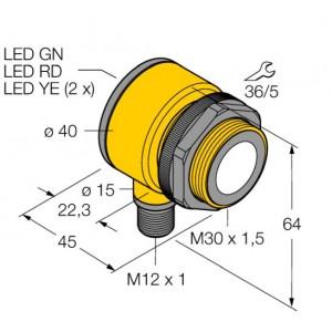 T30UXIBQ8 – Czujnik ultradźwiękowy, czujnik odbiciowy – 80486