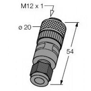 WAKC4 - Złącze rozbieralne M12, żeńskie, proste – 8004811