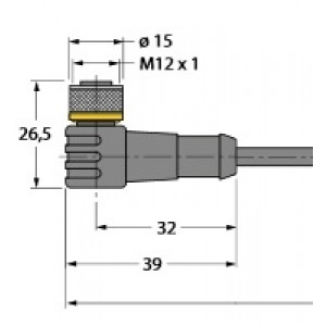 WKC4T-2/TXL – Przewód elementu wykonawczego/- Czujnika, przewód podłączeniowy – 6625512